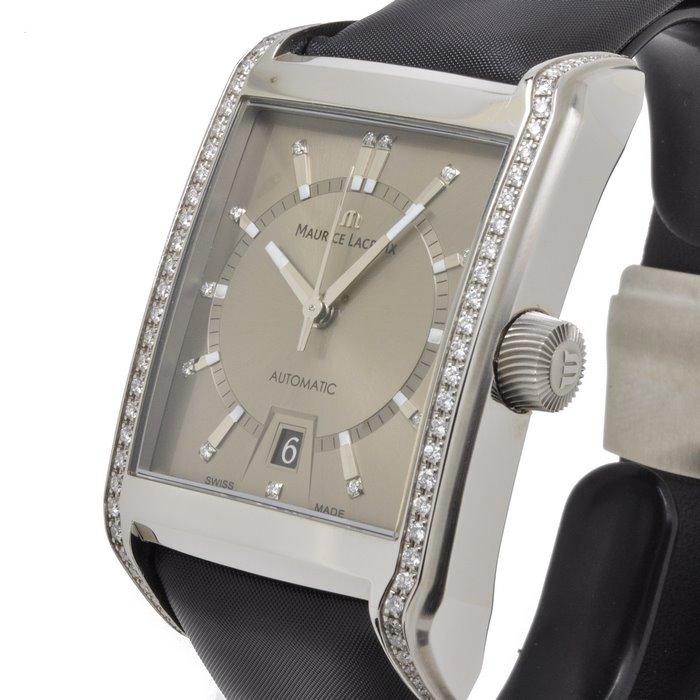 Maurice Lacroix Pontos Rectangulaire Diamanten horloge PT6257-SD501-750