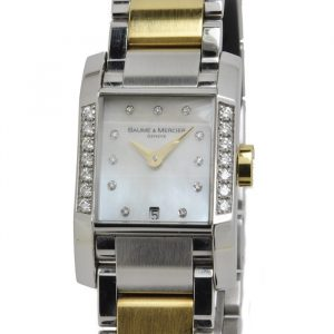 Baume & Mercier dames horloge staal goud DIAMONDS MOA08599