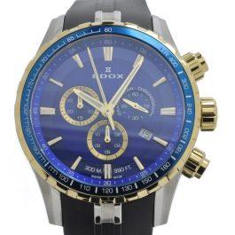 Edox Grand Ocean Chronograph Horloge 10226-357JBUCA-BUID