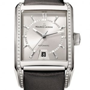 Maurice Lacroix Pontos Rectangulaire Diamonds Watch PT6247-SD501-150
