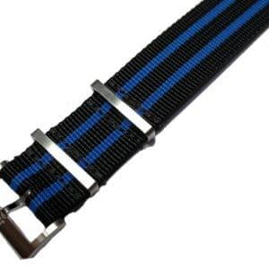 Maurice Lacroix NATO horlogeband PT6008 PT6018 Pontos S 22 mm black blue
