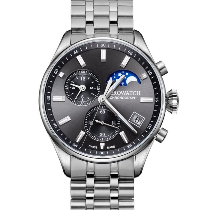AEROWATCH Les Grandes Classiques Moon Phases 78990 AA01 M Watch