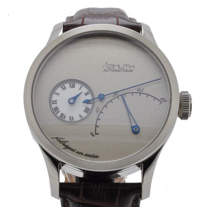 Azimuth Regulateur Retrograde Minutes Frost Grey dial
