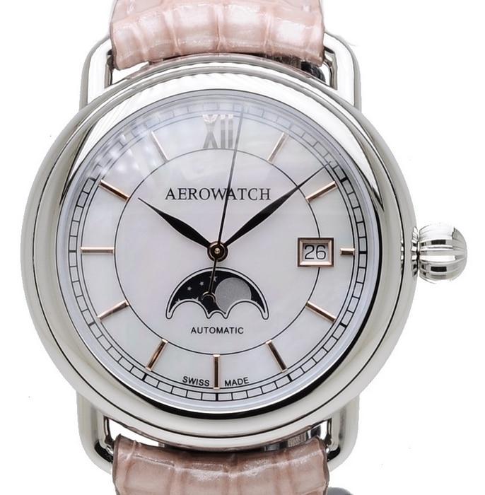 Aerowatch 1942 Moon Phase 77983 AA02 BR RO
